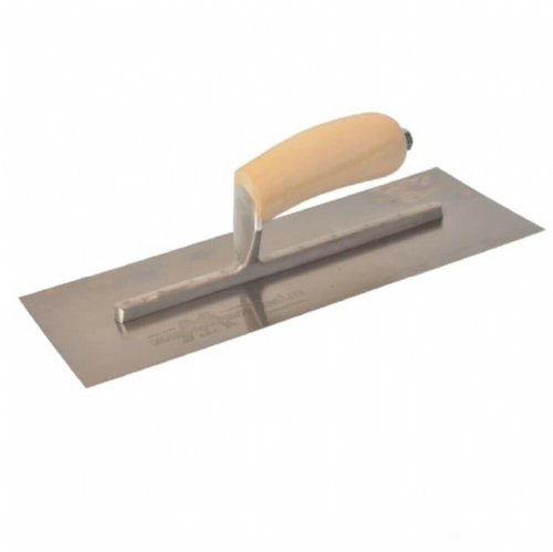 "Marshalltown MXS13SS Finishing Trowel Stainless Steel Wooden Handle 13"" x 5"""